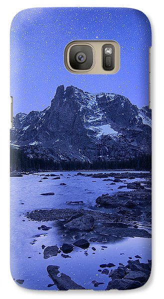 Galaxy Case featuring the photograph Notchtop Night Vertical by Aaron Spong