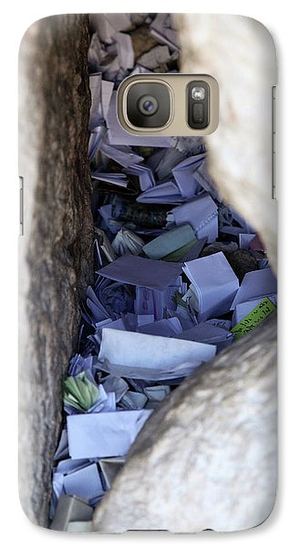 Galaxy Case featuring the photograph Notes In The Wailing Wall  by Yoel Koskas
