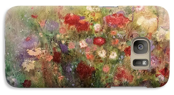 Galaxy Case featuring the painting Nothing But Flowers by Frances Marino