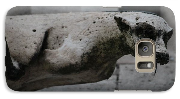 Galaxy Case featuring the photograph Notre Dame Bat Gargoyle by Christopher Kirby