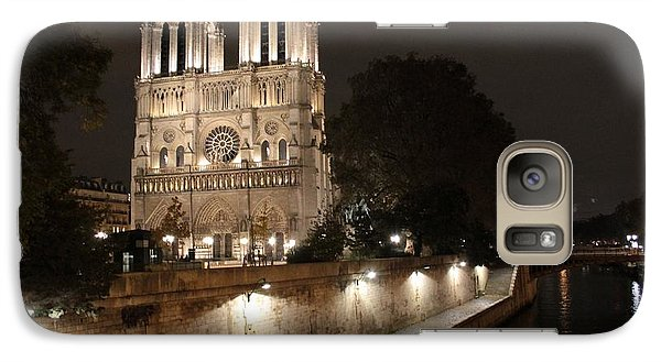 Galaxy Case featuring the photograph Notre Dame Cathedral From Petit Pont by Christopher Kirby
