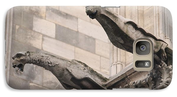 Galaxy Case featuring the photograph Notre Dame Cathedral Gargoyles by Christopher Kirby