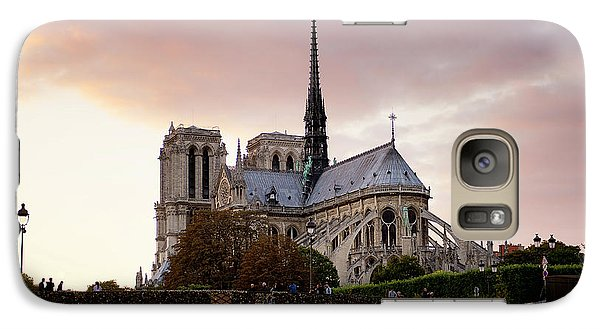 Galaxy Case featuring the photograph Notre Dame Cathedral Sunset by Ivy Ho