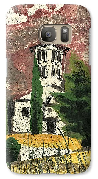 Galaxy Case featuring the painting Notre Dame D'aubune by Martin Stankewitz