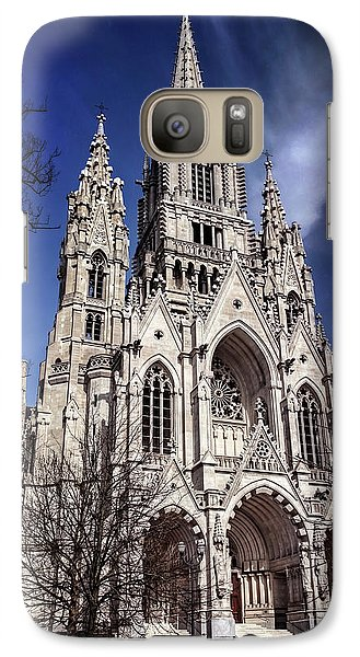 Galaxy Case featuring the photograph Notre Dame De Laeken In Brussels  by Carol Japp