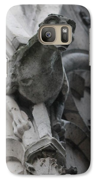 Galaxy Case featuring the photograph Notre Dame Gargoyle Grotesque by Christopher Kirby