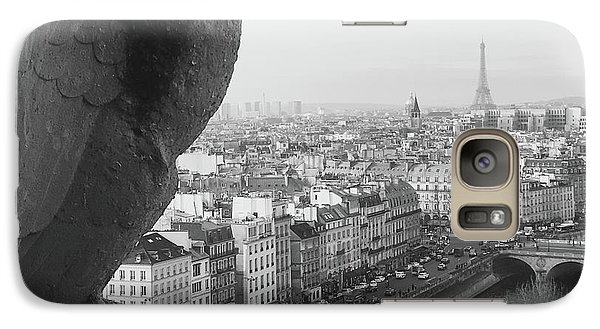 Galaxy Case featuring the photograph Notre Dame Gargoyle by Victoria Lakes