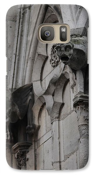 Galaxy Case featuring the photograph Notre Dame Grotesques by Christopher Kirby