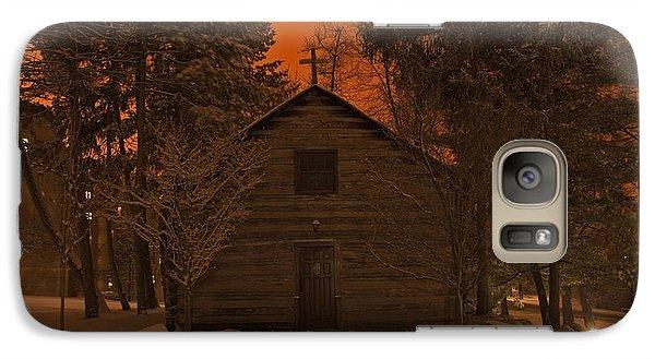 Notre Dame Log Chapel Winter Night Galaxy S7 Case