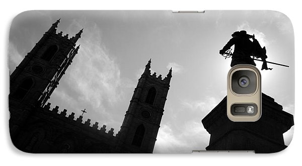 Galaxy Case featuring the photograph Notre Dame Silhouette by Valentino Visentini