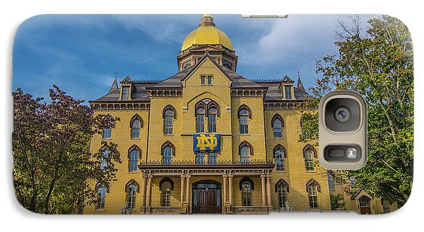 Galaxy Case featuring the photograph Notre Dame University Golden Dome by David Haskett