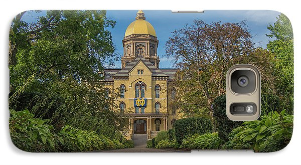 Galaxy Case featuring the photograph Notre Dame University Q by David Haskett