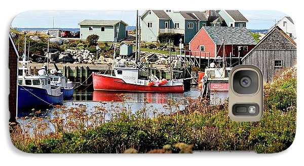 Galaxy Case featuring the photograph Nova Scotia Fishing Community by Jerry Battle