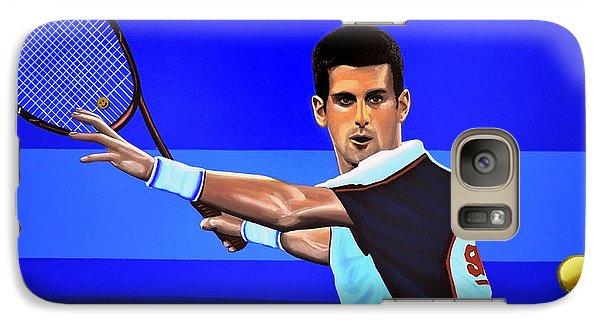 Novak Djokovic Galaxy S7 Case by Paul Meijering