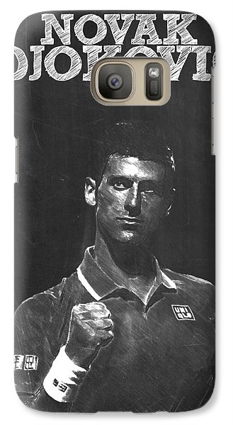 Novak Djokovic Galaxy S7 Case by Semih Yurdabak