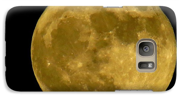Galaxy Case featuring the photograph November Full Moon by Eric Switzer