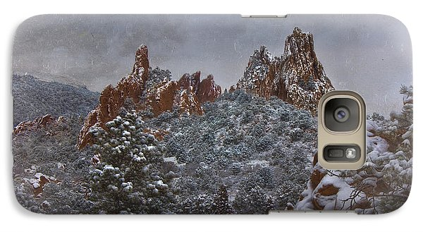 Galaxy Case featuring the photograph November Snow - Garden Of The Gods by Ellen Heaverlo