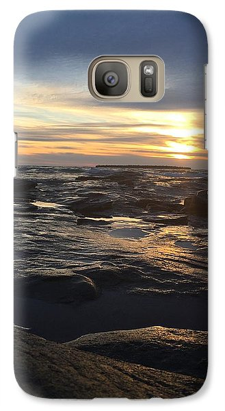 Galaxy Case featuring the photograph November Sunset On Lake Superior by Paula Brown
