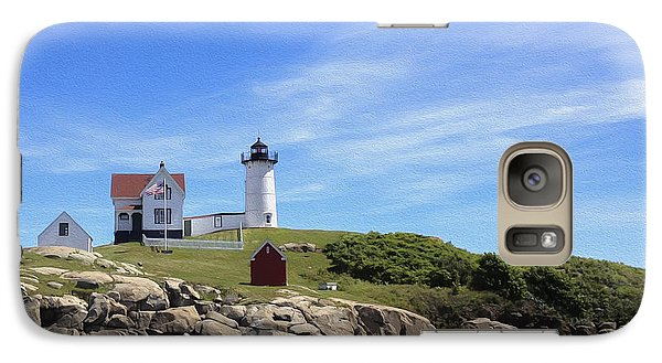 Galaxy Case featuring the photograph Nubble Light House by Linda Constant