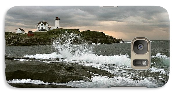Galaxy Case featuring the photograph Nubble Light In A Storm by Rick Frost
