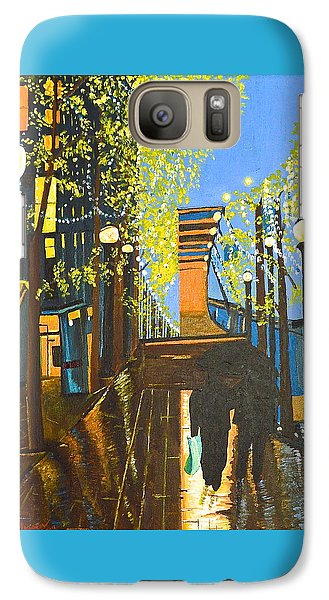 Galaxy Case featuring the painting Nuit De Pluie by Donna Blossom
