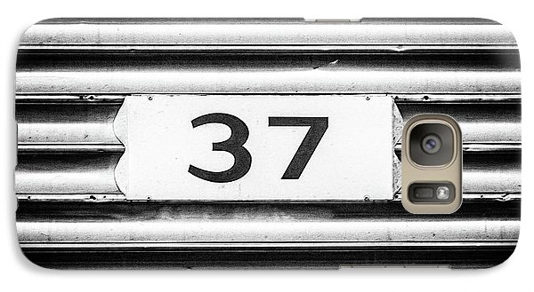 Galaxy Case featuring the photograph Number 37 Metal Square by Terry DeLuco