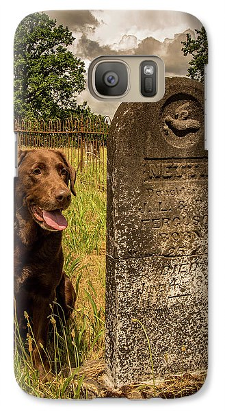 Galaxy Case featuring the photograph Nute In The Cemetery by Jean Noren