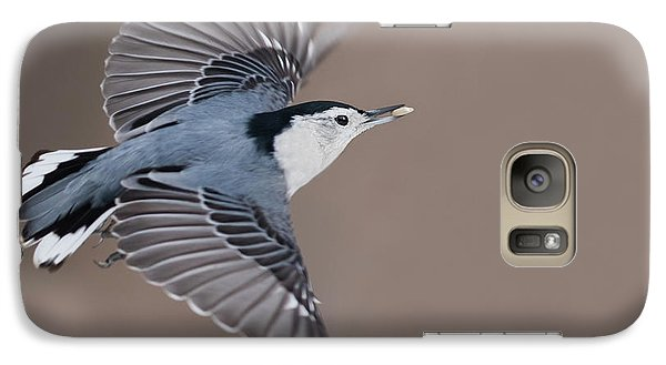 Galaxy Case featuring the photograph Nuthatch In Flight by Mircea Costina Photography