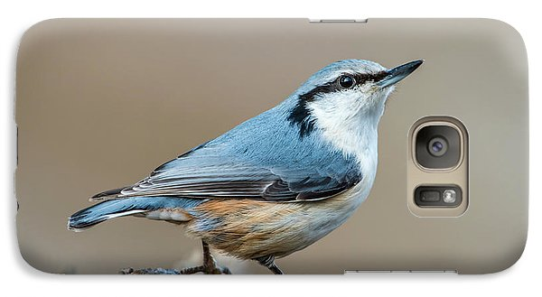Galaxy Case featuring the photograph Nuthatch's Pose by Torbjorn Swenelius