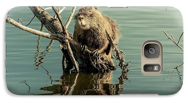 Galaxy Case featuring the photograph Nutria On Stick-up by Robert Frederick
