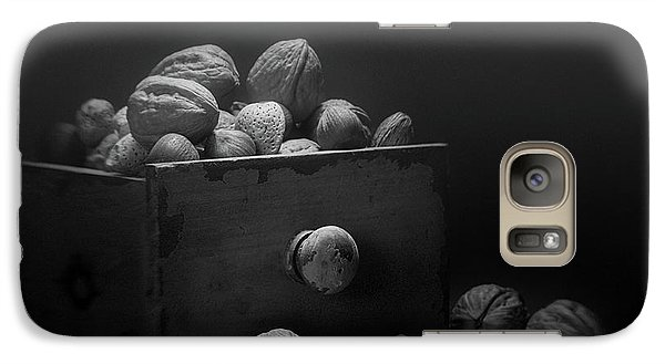 Galaxy Case featuring the photograph Nuts In Black And White by Tom Mc Nemar