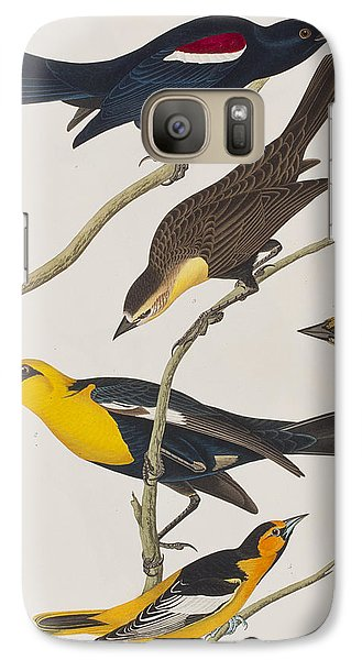 Nuttall's Starling Yellow-headed Troopial Bullock's Oriole Galaxy S7 Case by John James Audubon