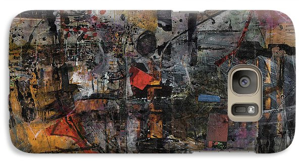 Galaxy Case featuring the painting Nyc Abstract by Robert Anderson