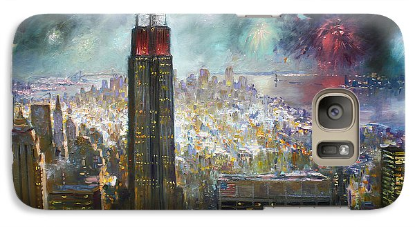 Nyc. Empire State Building Galaxy S7 Case by Ylli Haruni