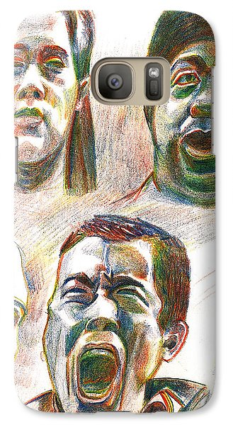 Galaxy Case featuring the drawing Nyc Expressions by Al Goldfarb