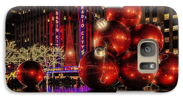 Galaxy Case featuring the photograph Nyc Holiday Balls by Chris Lord