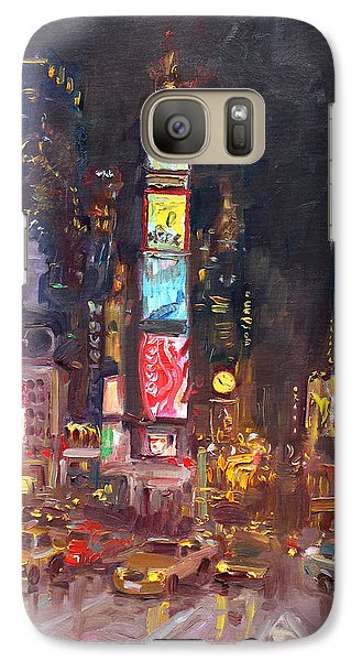 Nyc Times Square Galaxy S7 Case by Ylli Haruni