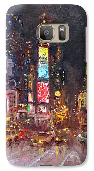 Times Square Galaxy S7 Case - Nyc Times Square by Ylli Haruni