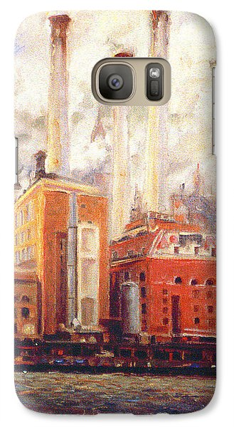 Galaxy Case featuring the painting Nyc- View From East River  by Walter Casaravilla
