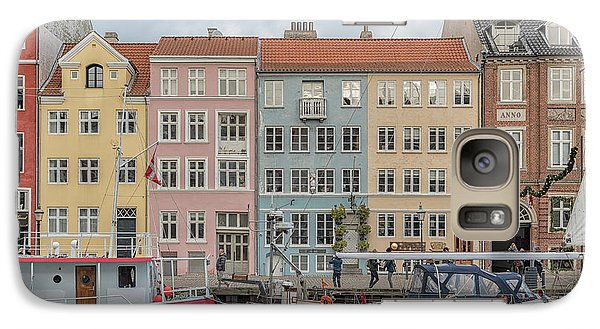 Galaxy Case featuring the photograph Nyhavn Waterfront In Copenhagen by Antony McAulay