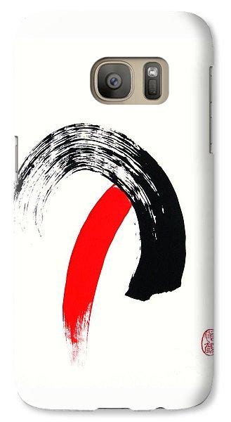 Galaxy Case featuring the painting Nyuryoku Shimasu by Roberto Prusso