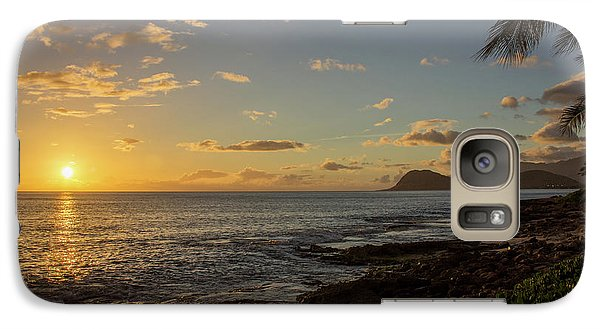 Galaxy Case featuring the photograph Oahu Sunset by RKAB Works
