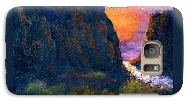 Galaxy Case featuring the painting Oak Creek Canyon by Gail Kirtz