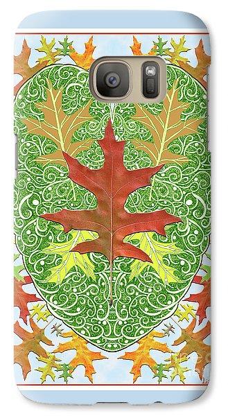 Galaxy Case featuring the digital art Oak Leaf In A Heart by Lise Winne