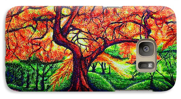Galaxy Case featuring the painting OAK by Viktor Lazarev
