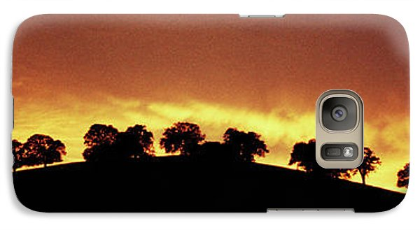 Galaxy Case featuring the photograph Oaks On Hill At Sunset by Jim and Emily Bush