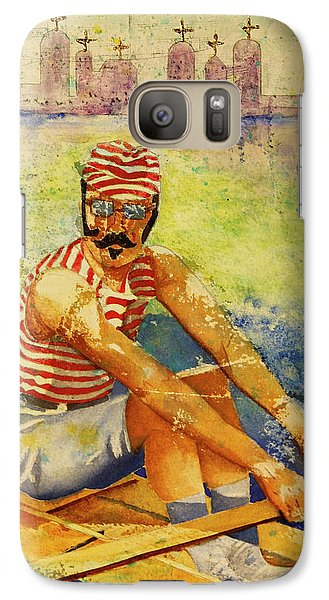 Galaxy Case featuring the painting Oarsman by Cynthia Powell