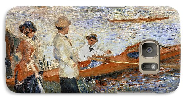 Boat Galaxy S7 Case - Oarsmen At Chatou by Pierre Auguste Renoir