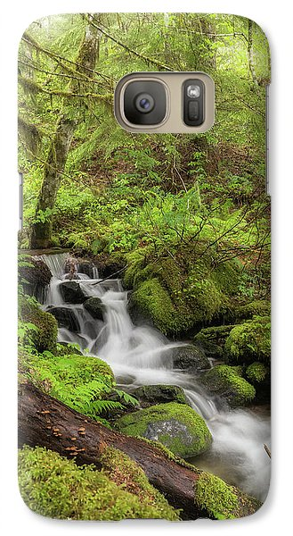 Galaxy Case featuring the photograph Oasis In The Forest by Angie Vogel