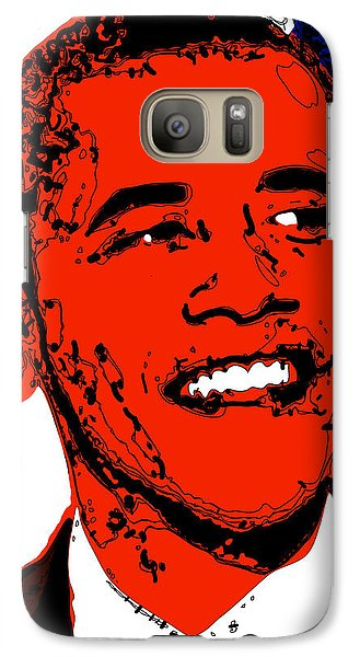 Galaxy Case featuring the digital art Obama Hope by Rabi Khan